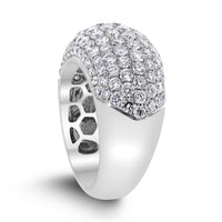 Infinite Diamond Band (3.45 ct Diamonds) in White Gold