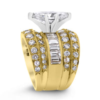 Illusion Engagement Ring (2.00 ct Marquise JSI1 EGLUSA Diamond) in Yellow Gold