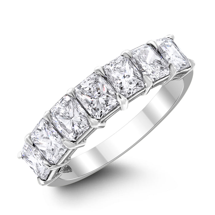 7 Stone Cushion Diamond Ring (2.26 ct Diamonds) in Platinum