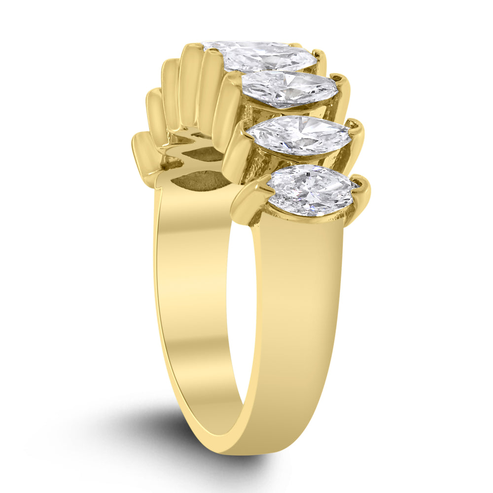 Marquise Diamond Band (1.92 ct Diamonds) in Yellow Gold