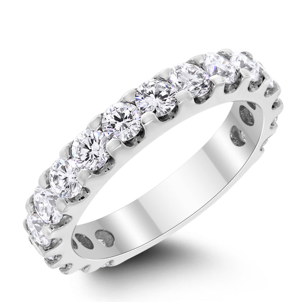 3/4th Way Diamond Band (1.97 ct Diamonds) in White Gold