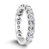 3/4th Way Diamond Band (1.49 ct Diamonds) in White Gold