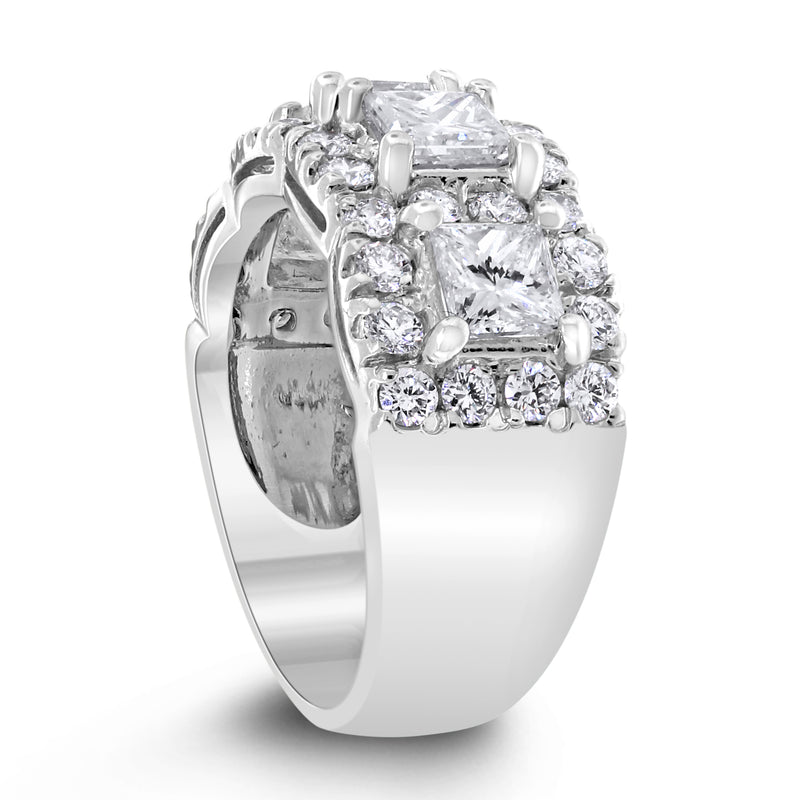 Elina Halo Diamond Band (2.86 ct Diamonds) in White Gold