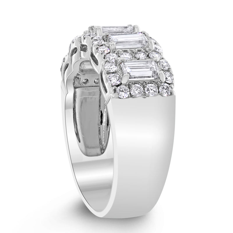 Alina Halo Diamond Ring (1.41 ct Diamonds) in White Gold
