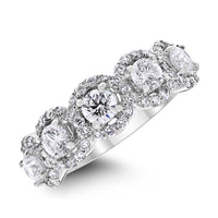 Center Of World Diamond Band (1.77 ct Diamonds) in White Gold