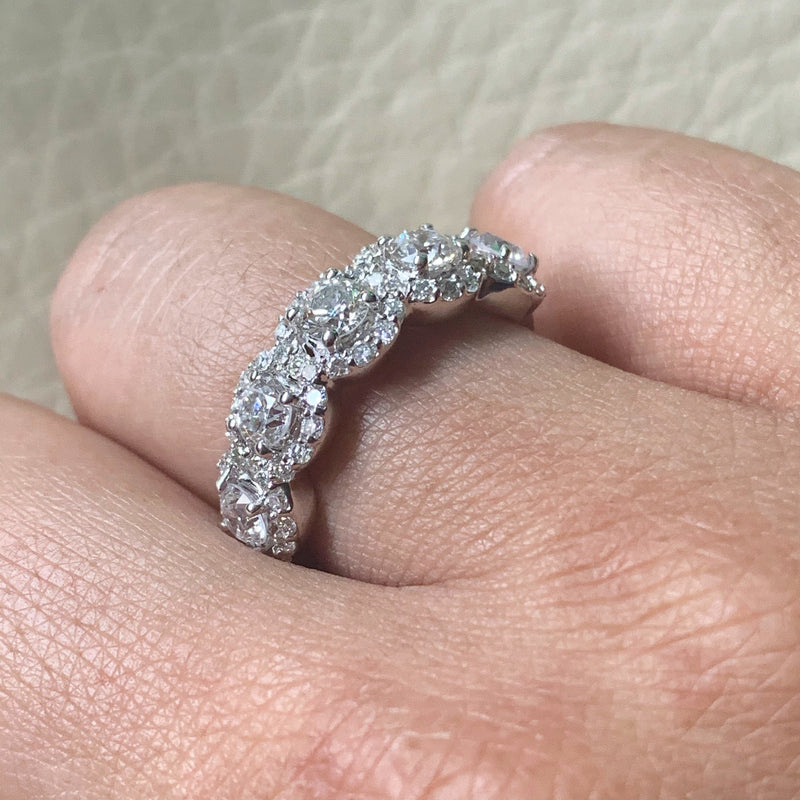 Center Of My World Diamond Band (1.77 ct Diamonds) in White Gold