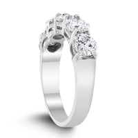 5 Stone Diamond Ring (2.20 ct Diamonds) in White Gold