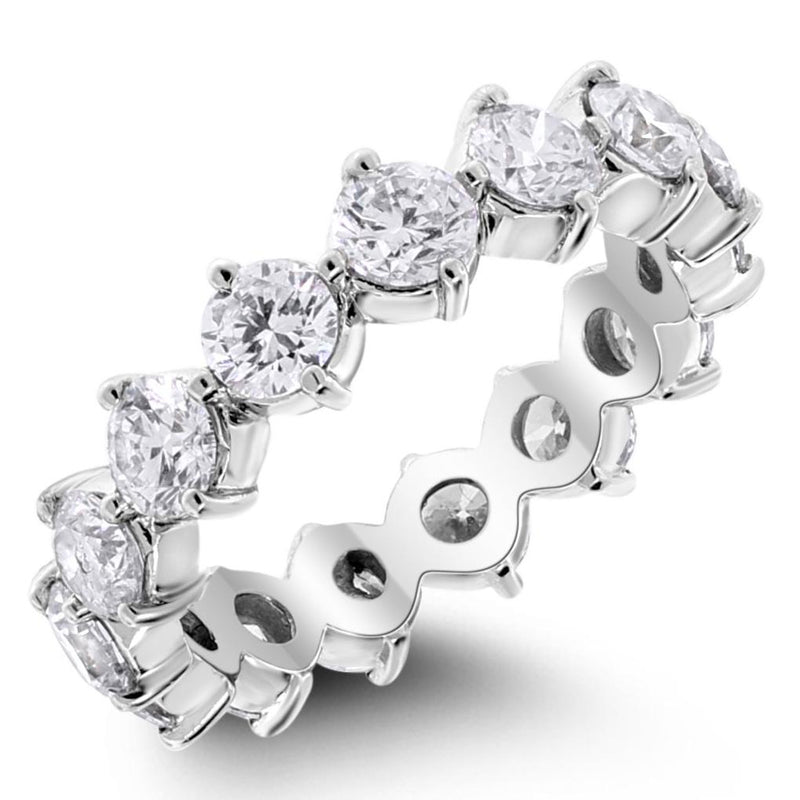 The Singular Eternity Band (3.19 ct Diamonds) in White Gold