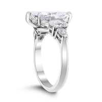 Stories Engagement Ring (3.96 ct Pear Shape FVS2 EGLUSA Diamond) in Platinum