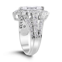 Cassandra Engagement Ring (1.25 ct Marquise HSI2 Diamond) in White Gold