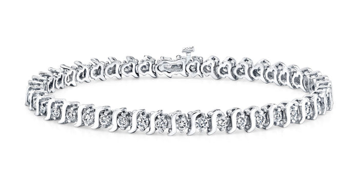 S-Link Diamond Bracelet (1.25 ct Diamonds) in White Gold