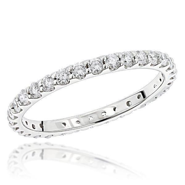 Diamond Eternity Wedding Band (0.96 ct Diamonds) in White Gold