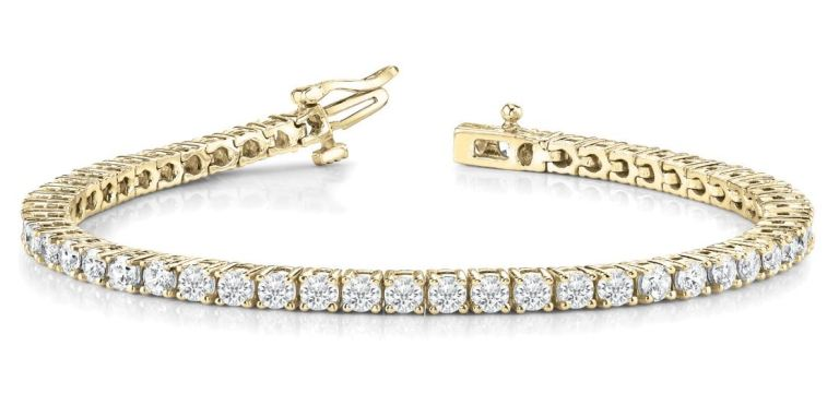 Diamond Tennis Bracelet (10.00 ct Diamonds) in Yellow Gold