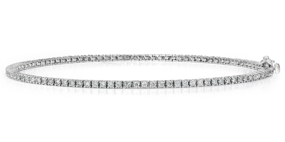 Diamond Tennis Bracelet (2.08 ct Diamonds) in White Gold