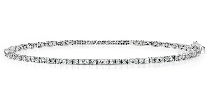 Diamond Tennis Bracelet (2.23 ct Diamonds) in White Gold