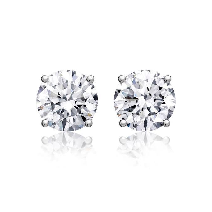 Round Diamond Solitaire Studs (0.48 ct)