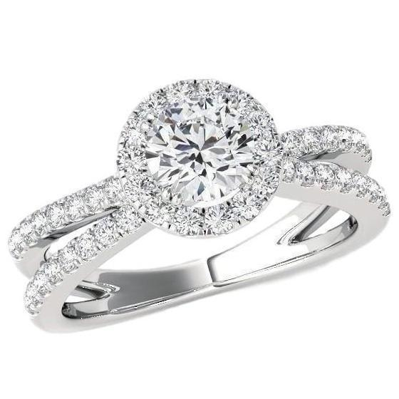 Everafter Engagement Ring (1.00 ct Diamonds) in White Gold