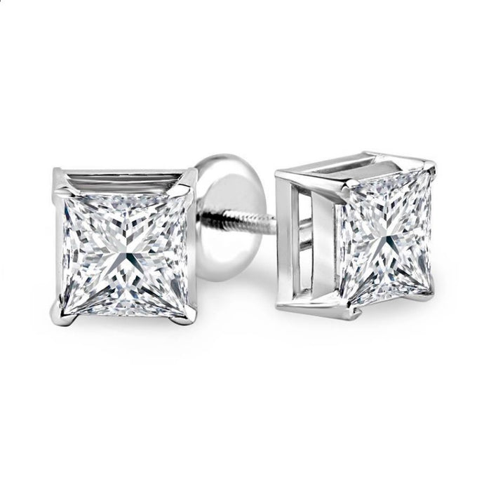 Princess Diamond Solitaire Studs (0.46 ct)