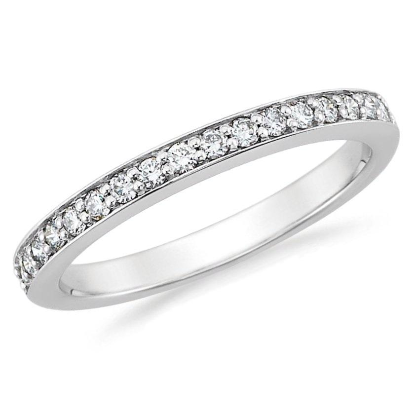 3/5th Way Channel Diamond Band (0.25 ct Diamonds) in White Gold