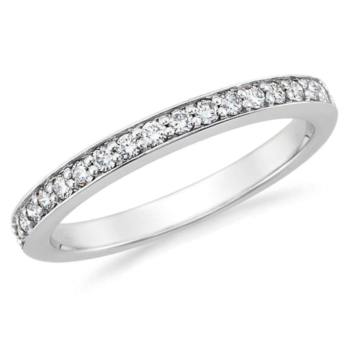 2/5th Way Channel Diamond Band (0.22 ct Diamonds) in Platinum