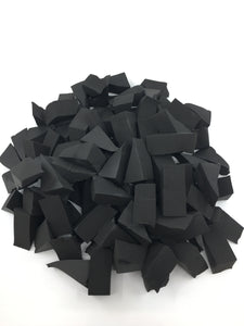 Eponges - Sponges Jumbo 100pcs Black