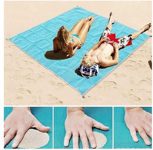 FEMEO  Tapis de plage ANTI-SABLE