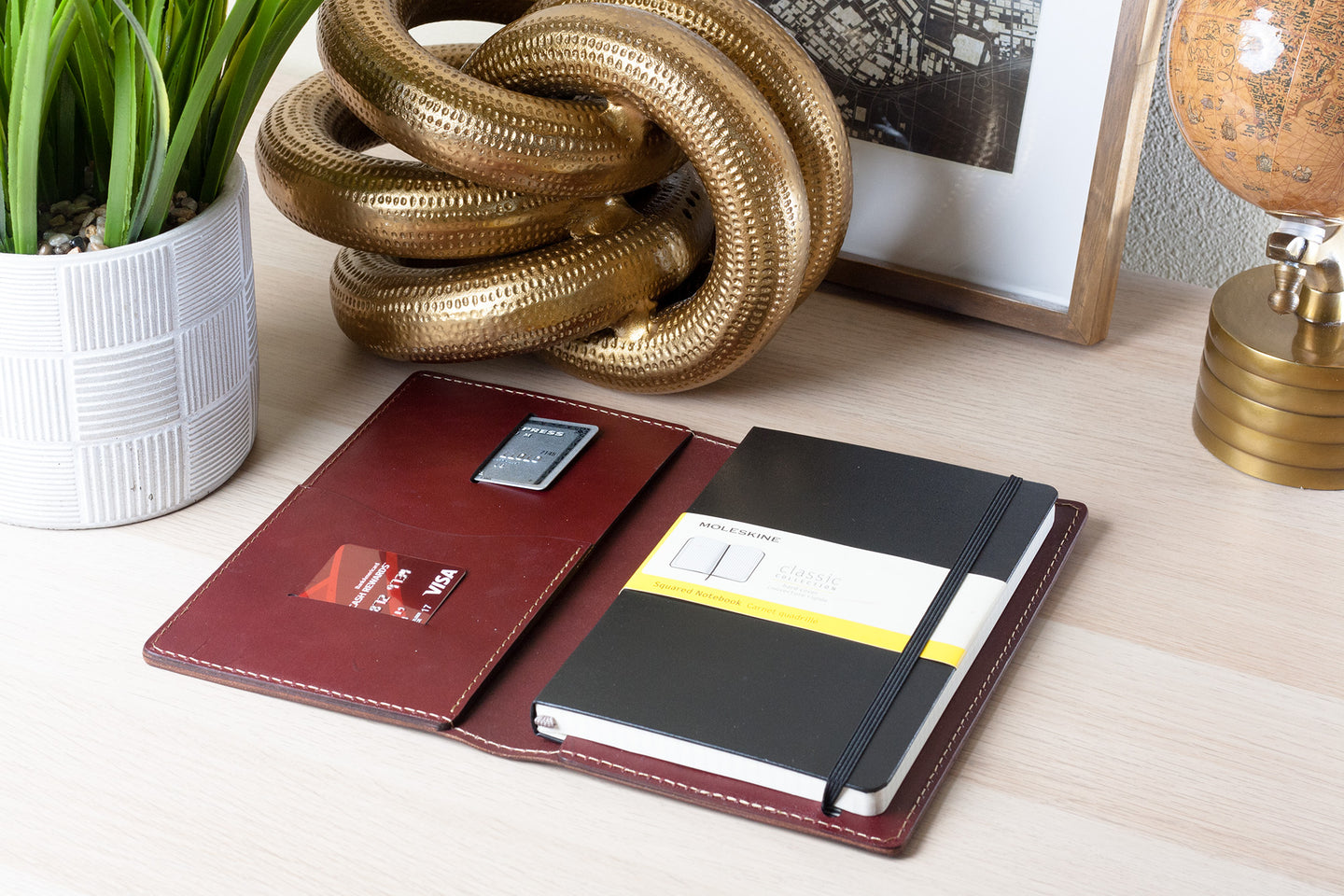 moleskine classic large hard cover journal in burgundy color
