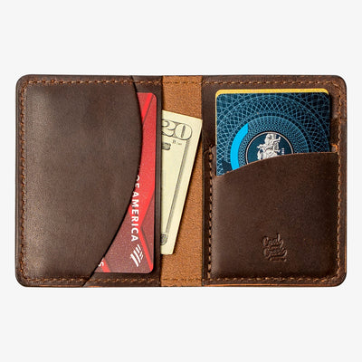 Olympia Leather Bifold Vertical Wallet - Java