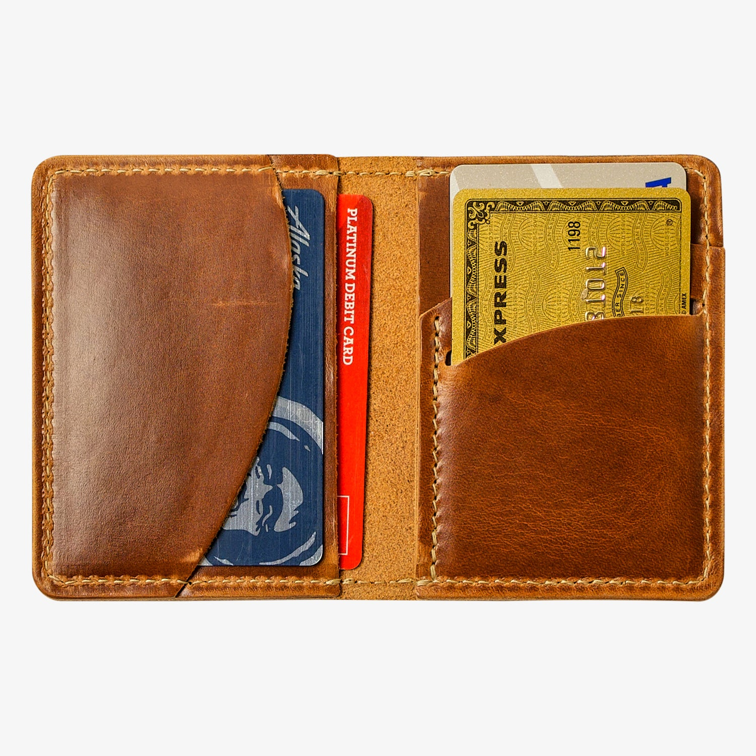 Olympia Leather Bifold Vertical Wallet - Moc