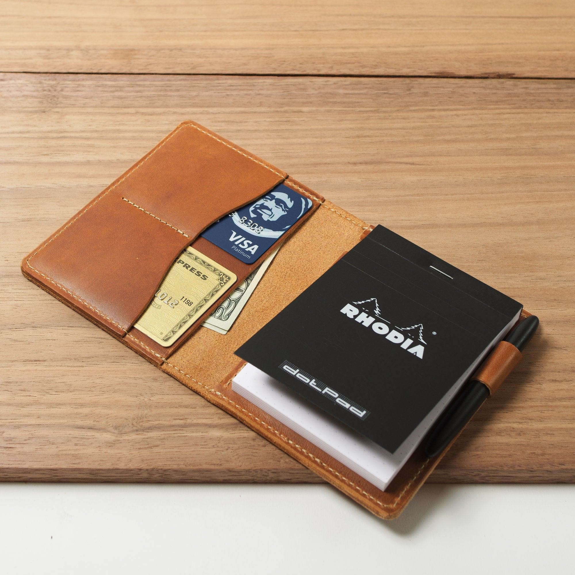 Bellevue Leather Cover for Rhodia dotPad No. 12 - 3.3x4.7""