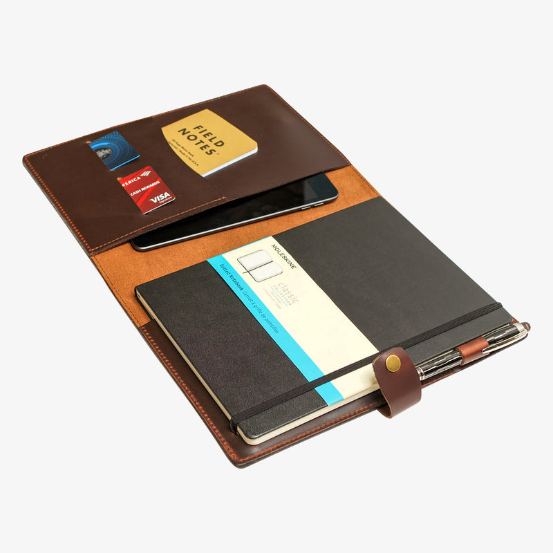 Bainbridge Leather Cover for Moleskine XL - Java