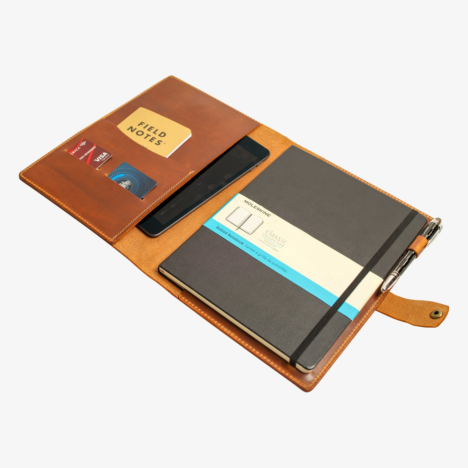 Bainbridge Leather Cover for Moleskine XL - Moc