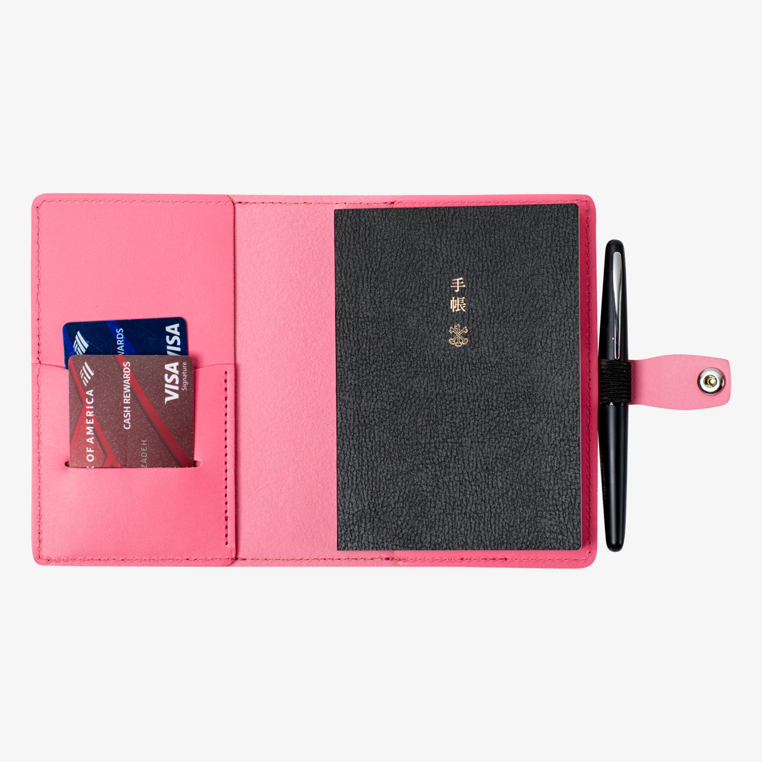Bainbridge Leather Cover for A6 Notebooks - Pink