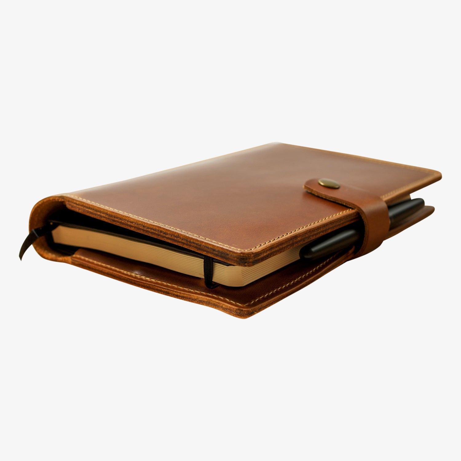 Bainbridge Leather Cover for A5 Notebooks - Moc