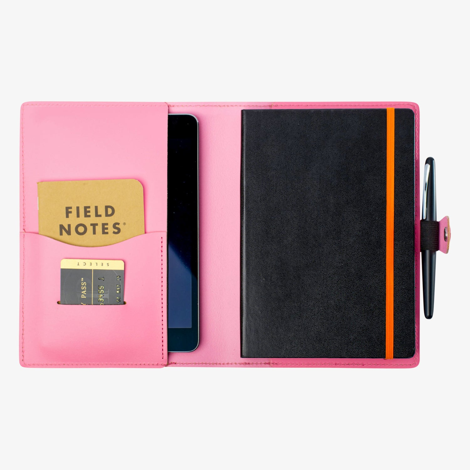 Bainbridge Leather Cover for A5 Notebooks - Pink