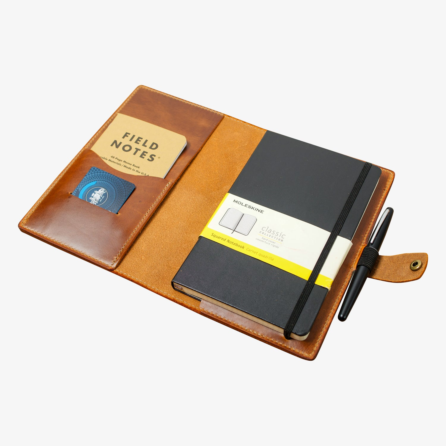 Bainbridge Leather Cover for Moleskine Large - Moc