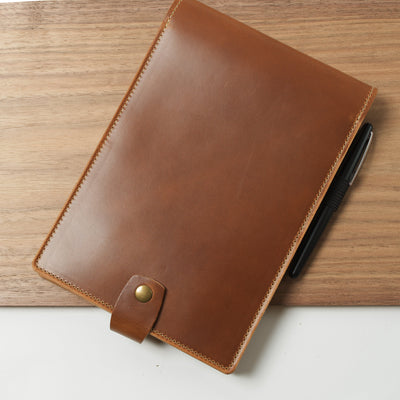"Bend Leather Cover for Steno Pad 6x9"" - Moc"
