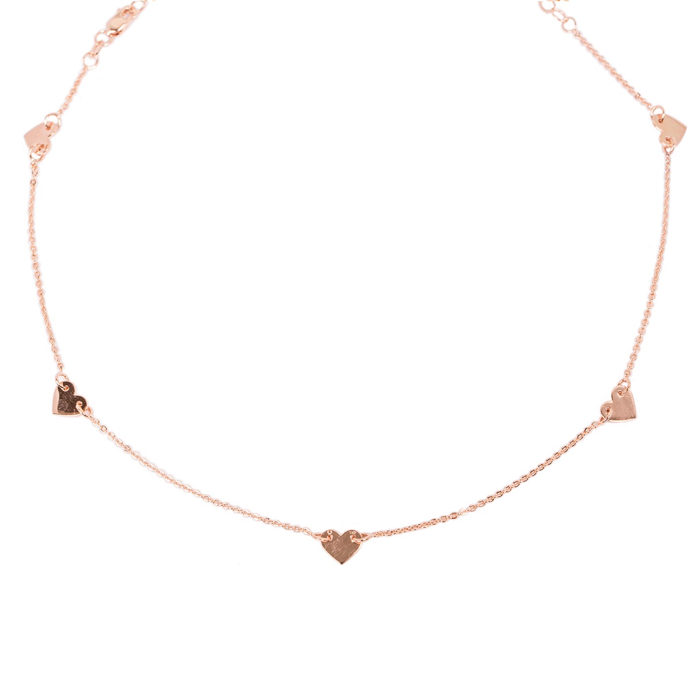 607390d3900f Collar Cinco Corazones Mini Oro Rosa - FACET - Joyería Mexicana – Facet