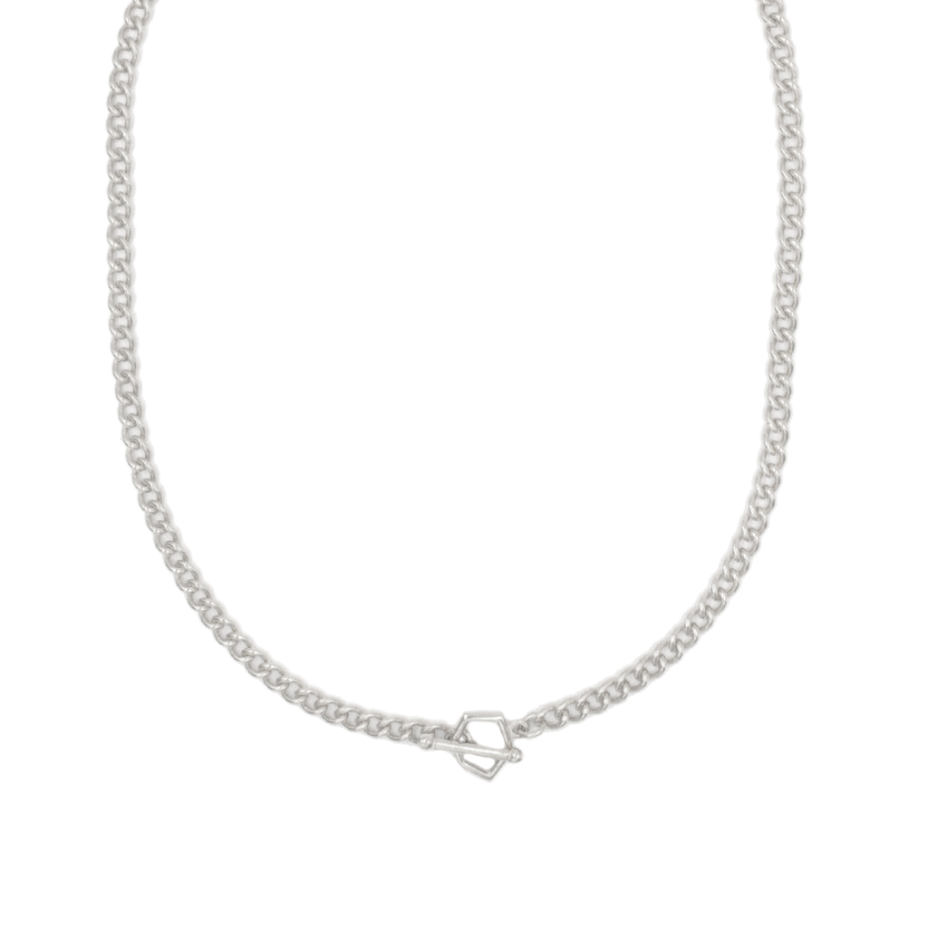Collar Facet Chain Plata