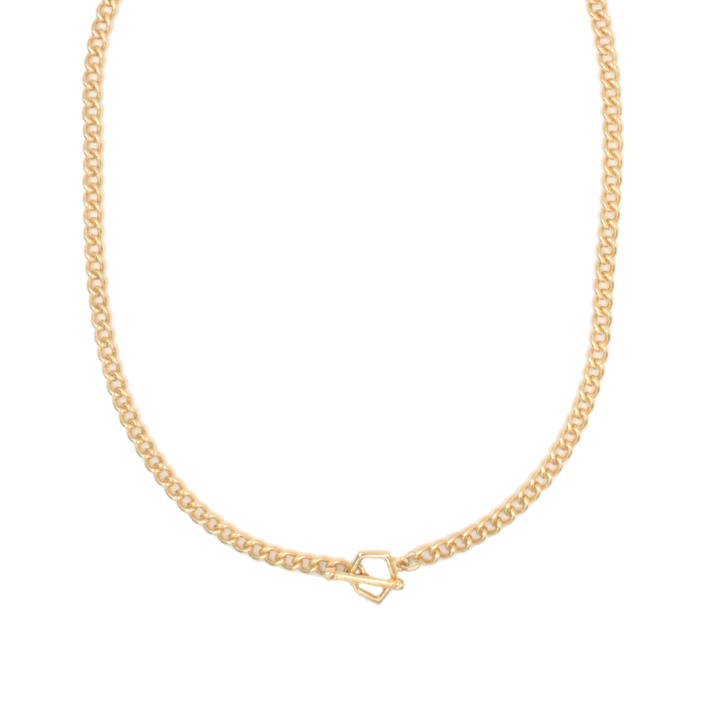 Collar Facet Chain Dorado