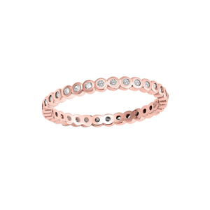 Anillo Bubble Shine Oro Rosa
