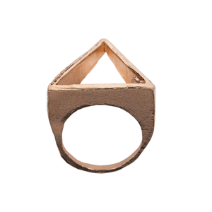 Anillo Triangular Oro Rosa