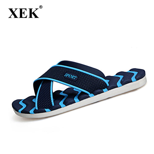 Men's Slippers Summer Non-slip Massage Slippers Fashion Man Casual Plus Size High quality Soft  Beach Shoes Flat Flip Flops XC19