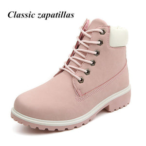 Classic zapatillas Spring Autumn Shoes Women Flat Heel Boots Fashion Women's Boots Brand Woman Shoes Ankle Botas Hard Outsole