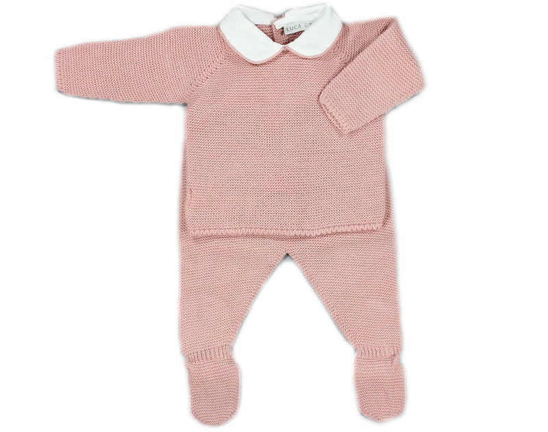 PALE PINK JUMPER BABY SET