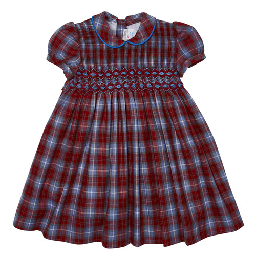 CAYA HAND-SMOCKED DRESS