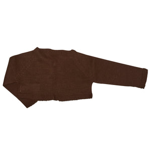 CHOCOLATE KNITTED BOLERO