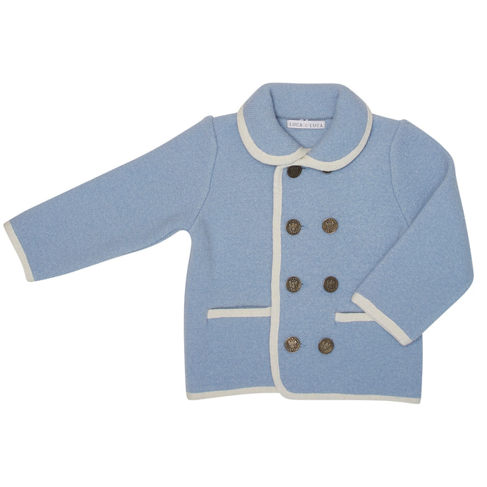 BABY BLUE EVELIO SHORT COAT