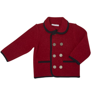 BURGUNDY VALDON SHORT COAT