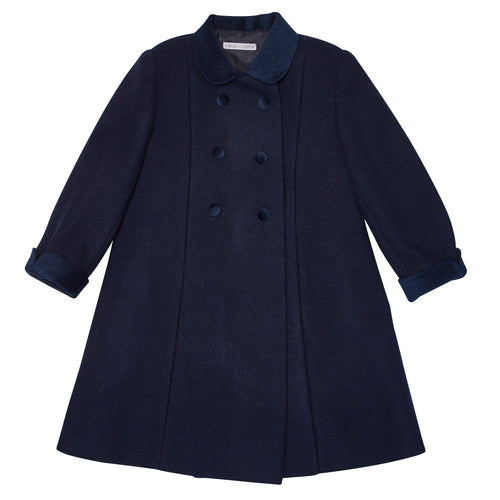 NAVY HOLBEIN OVERCOAT